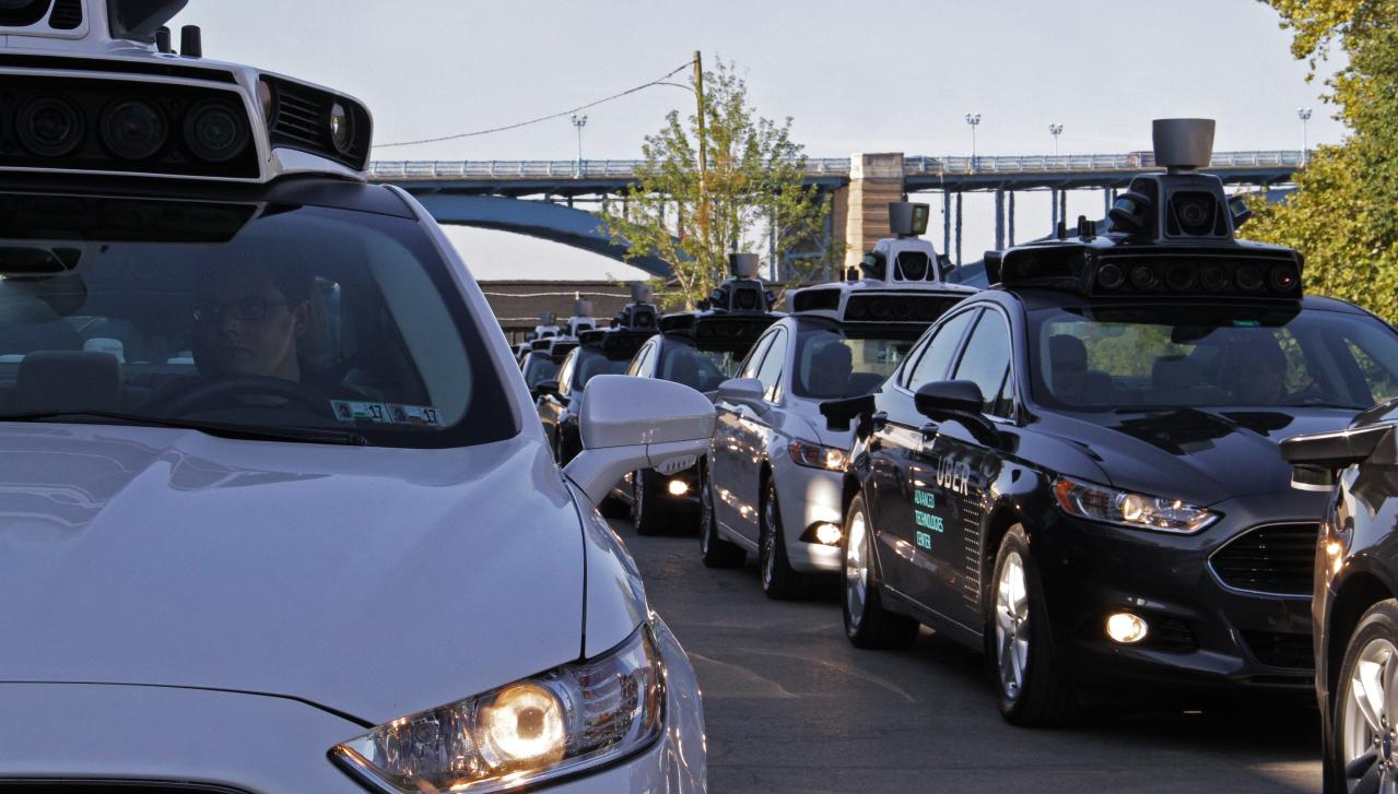 Coche autónomo de Uber en Pittsburg