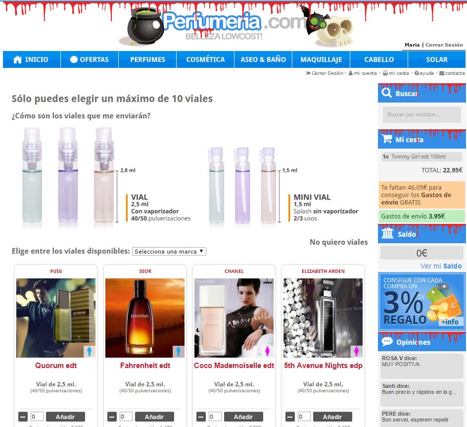 perfumeria.com envio