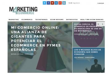 Nuevo diseño de la portada de Marketing4ecommerce líder del marketing digital