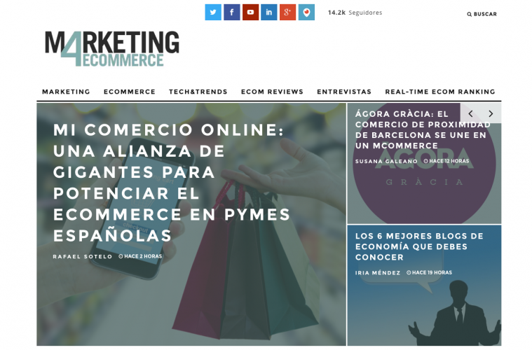 Nuevo diseño de la portada de Marketing4ecommerce líder del marketing digital
