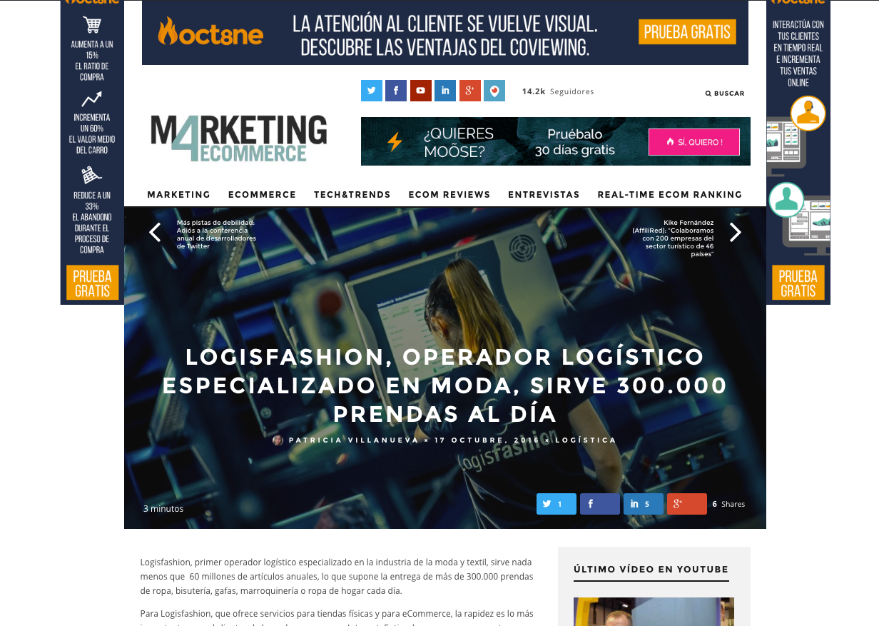 Marketing4ecommerce: un nuevo diseño para el líder del marketing digital en España