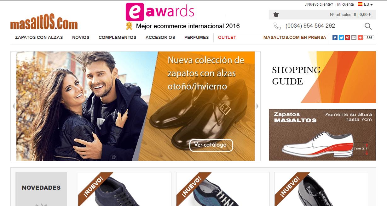 9777cf7eec699 Tienda online de zapatos Masaltos.com  opiniones y valoraciones - Marketing  4 Ecommerce - Tu revista de marketing online para e-commerce