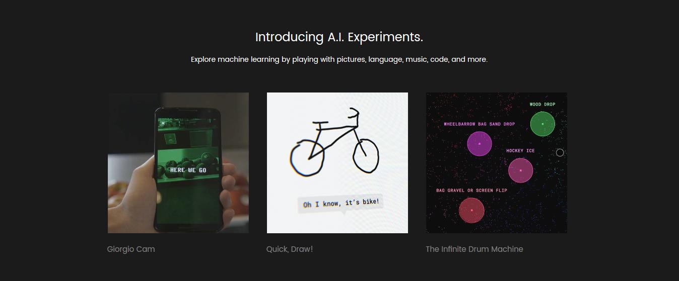 La web AI Experiments de Google juega con la Inteligencia Emocional.