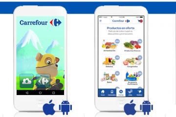 La app Carrefour permite personalizar la pantalla.