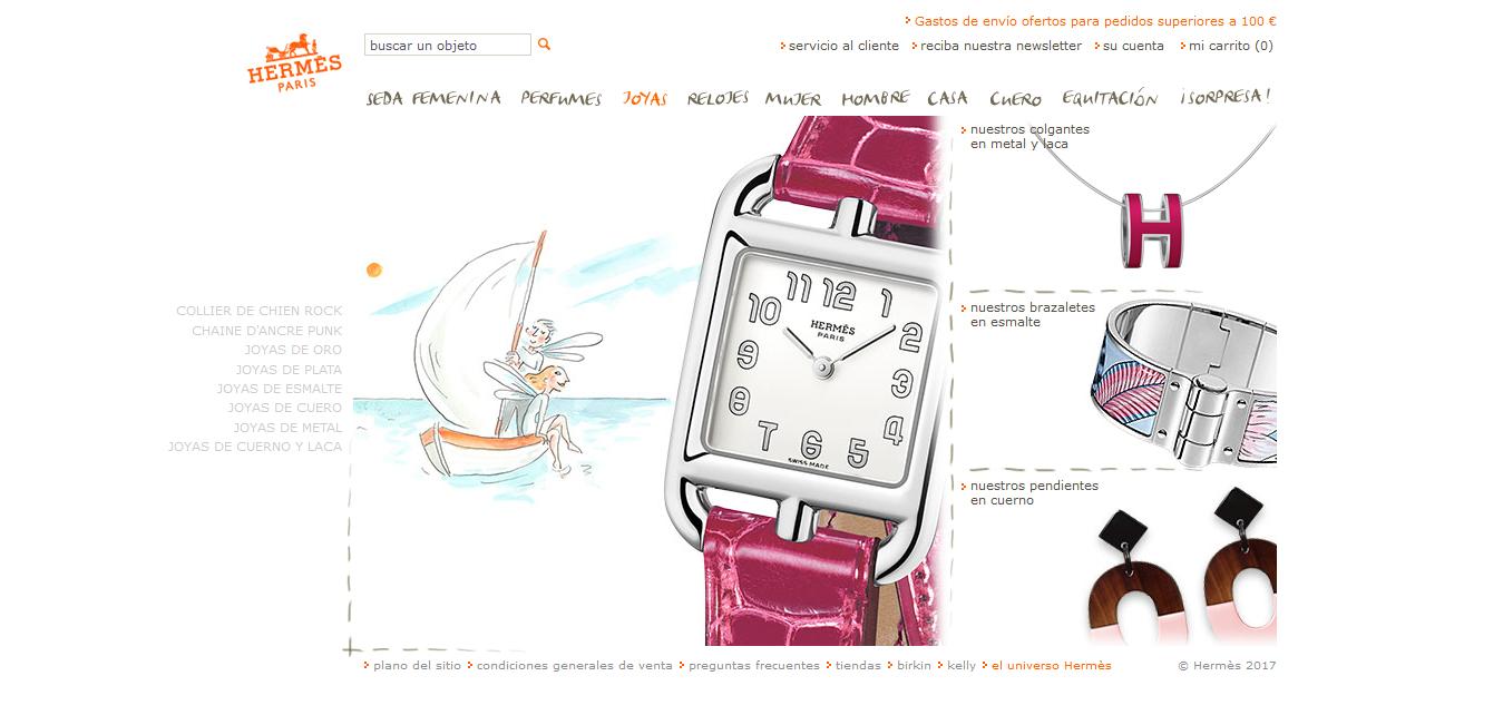 Tienda online de Hermès.