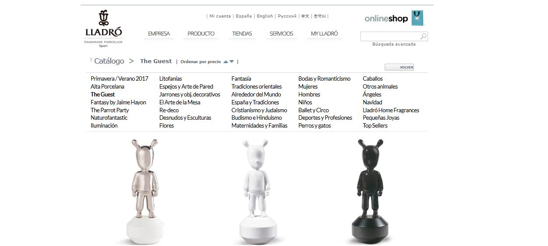 Tienda online de Lladró.