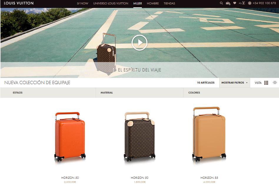Tienda online de Louis Vuitton.