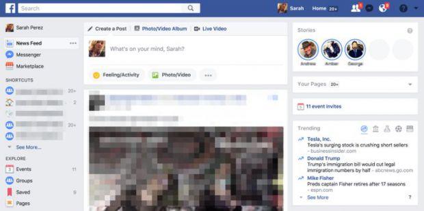 Facebook Stories para escritorio 2
