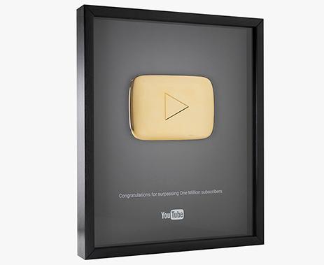 boton de oro youtube