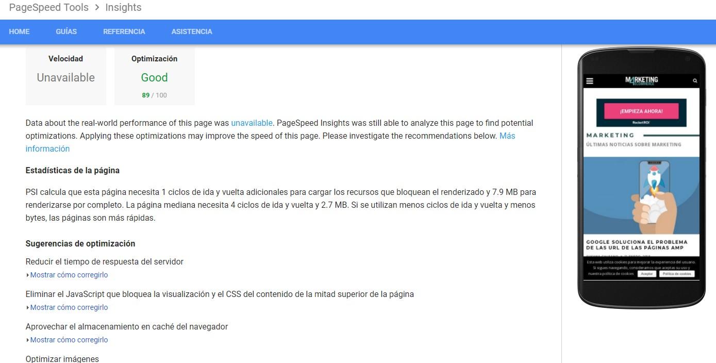 Google actualiza su Page Speed Test Marketing4