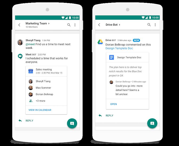 Google lanza oficialmente Hangouts Chat, una ambiciosa app de comunicación para empresas