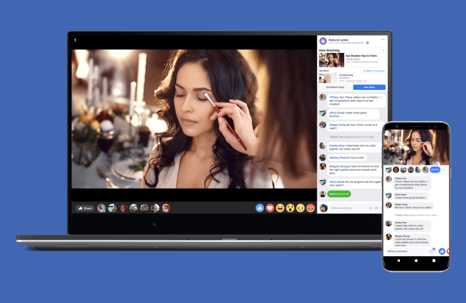 Watch Party, la nueva apuesta de Facebook por el vídeo en grupo