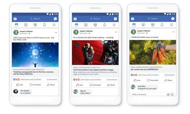 Facebook penalizará a los anunciantes que hagan clickbaiting (y otras malas prácticas que te sorprenderán!!)
