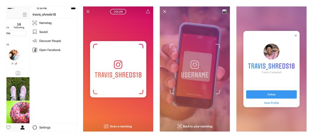 Nametags: Instagram lanza etiquetas escaneables para ayudarte a hacer amigos