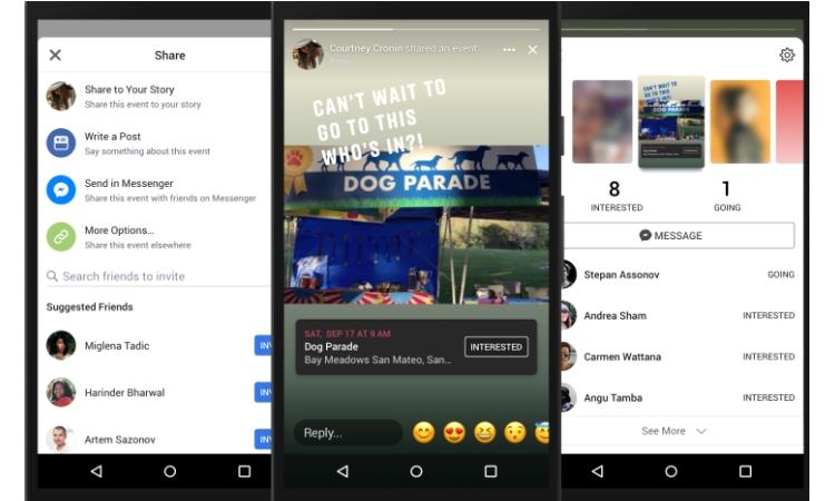 Facebook revitaliza sus stories con nuevos stickers y la posibilidad de compartir eventos