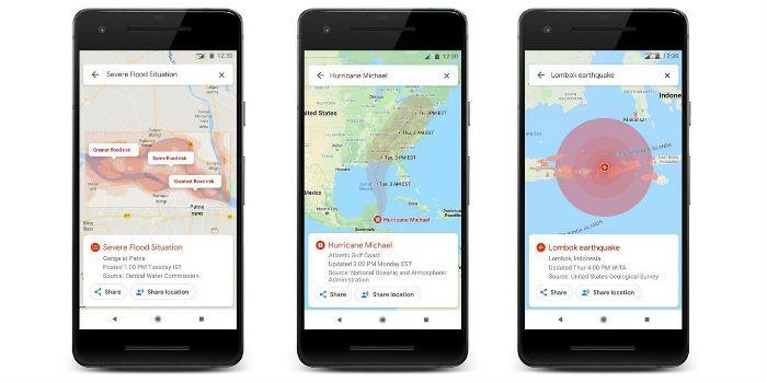 Google Maps: riesgos naturales