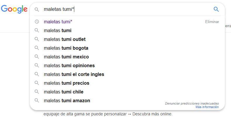 como buscar palabras clave en google chrome