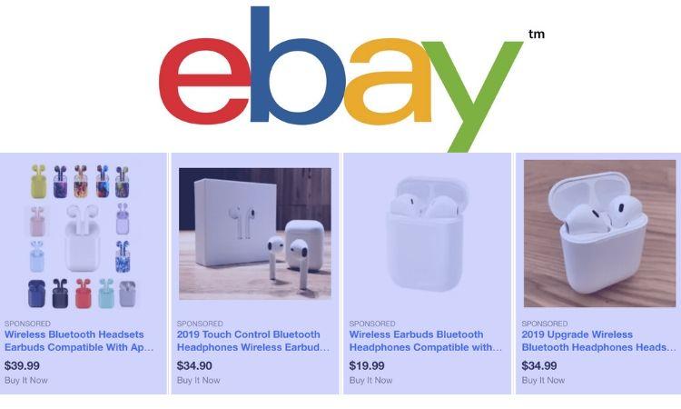 Los anuncios inundan los resultados de búsqueda en eBay