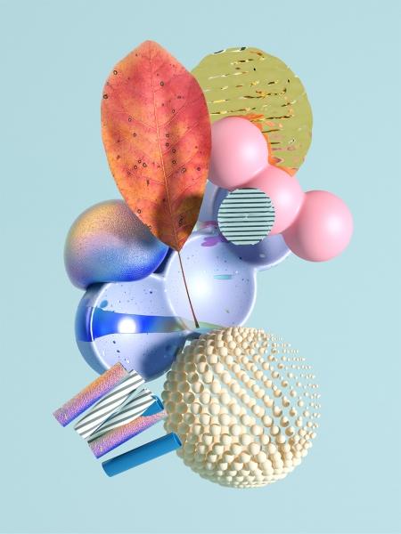 Tendencias en diseño en 2020: texturas en diseños 3D