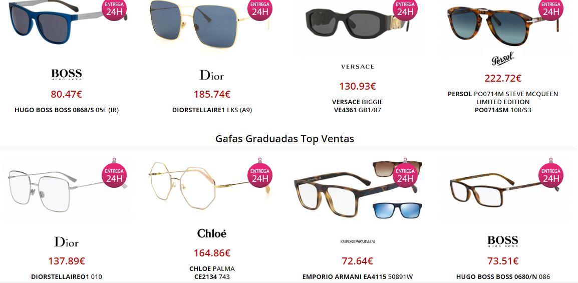 Precios y modelos de gafas en Visual Click