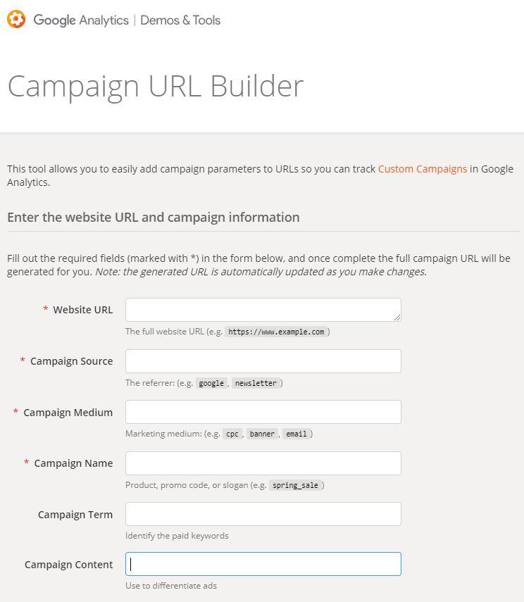 Campaign URL Builder de Google