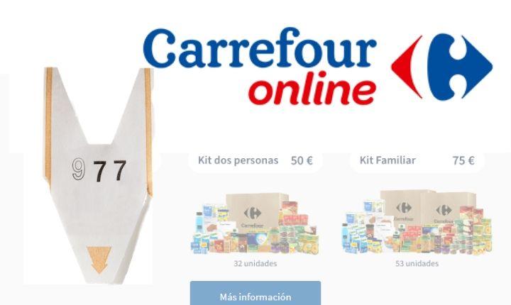 El supermercado de Carrefour se adapta al confinamiento ofreciendo packs de productos... y colas de espera (!)