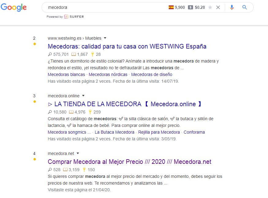 extensión google chrome serptrends
