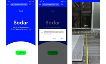 Sodar: la app de Google para medir los dos metros de distancia social