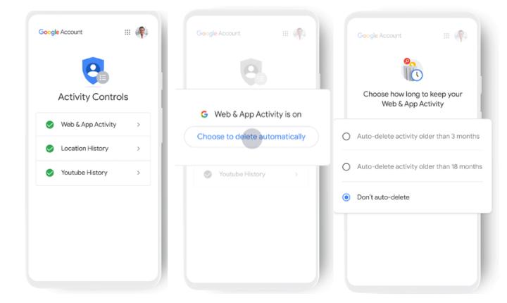 Google eliminará automáticamente los datos de actividad del usuario cada 18 meses
