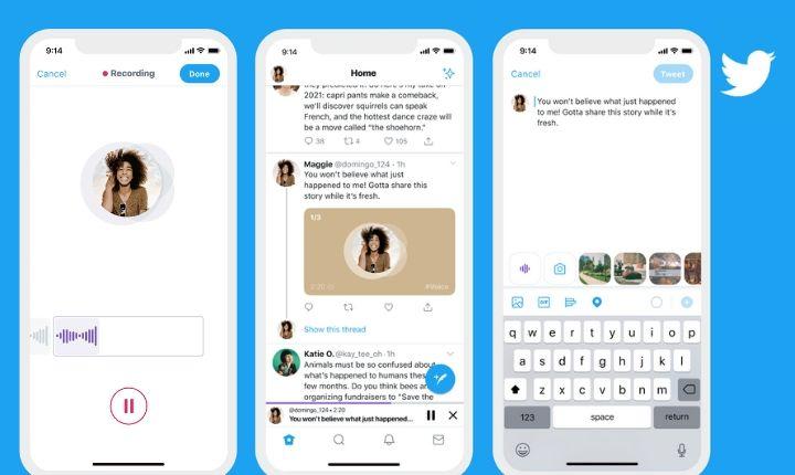 """Tweets de audio: así funciona la nueva función """"whatsappera"""" de Twitter"""