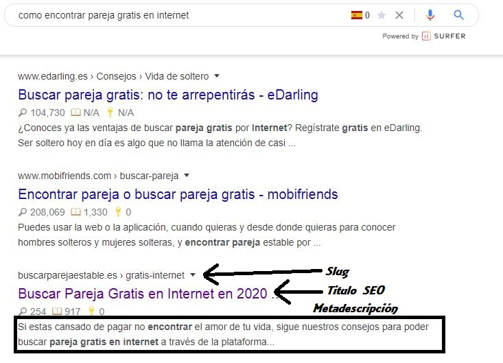 como encontrar pareja gratis internet serps