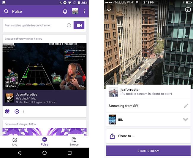 Cómo emitir en directo desde la app de Twitch