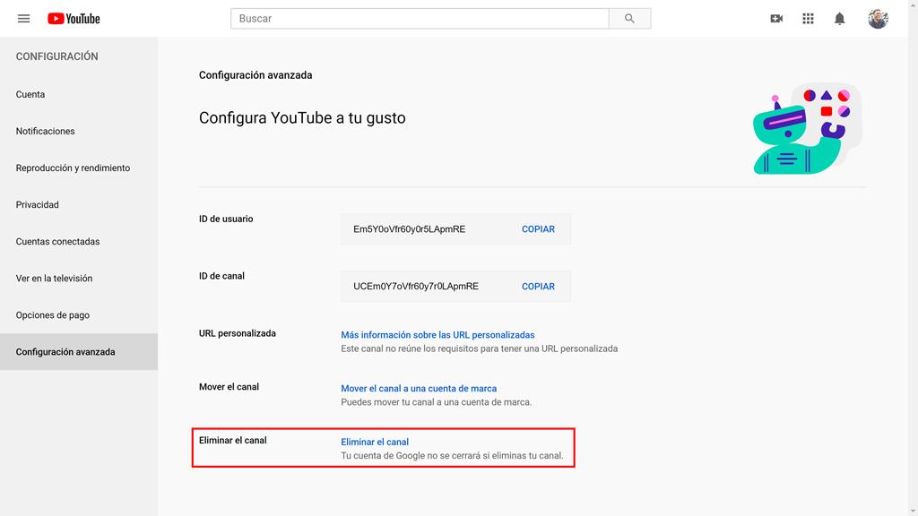 Cómo darse de baja de YouTube