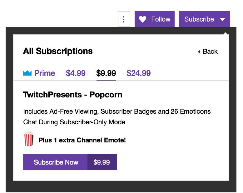 Suscripciones de Twitch