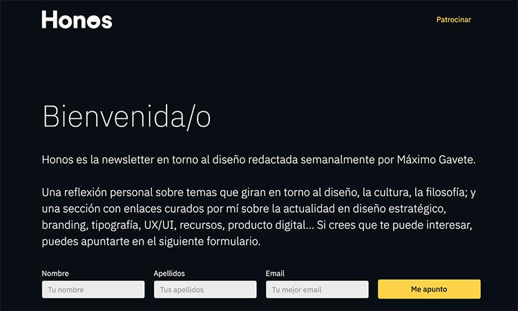 Newsletter diseño