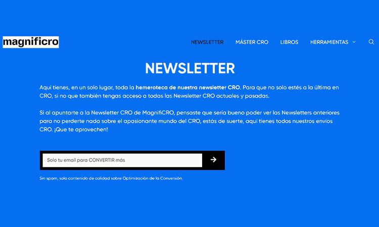 Newsletter CRO