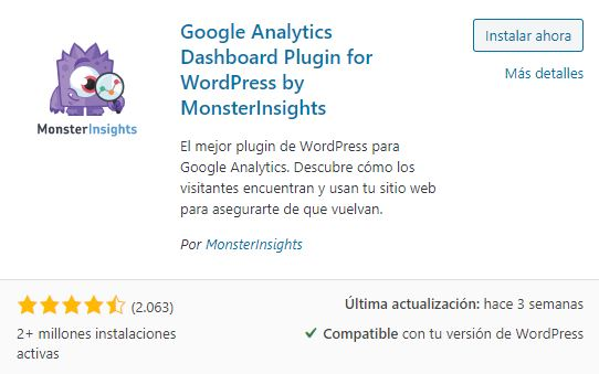 plugin google analytics for wordpress