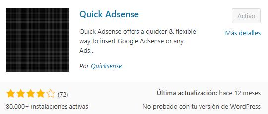 plugin quickadsense