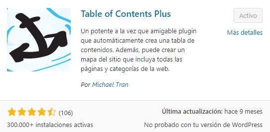 plugin table of contents plus