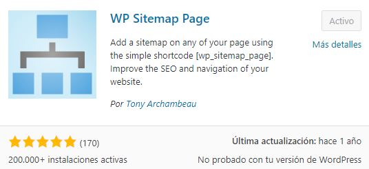 plugin wp sitemap page