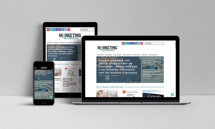 Diseño responsive de la web de Marketing4eCommerce
