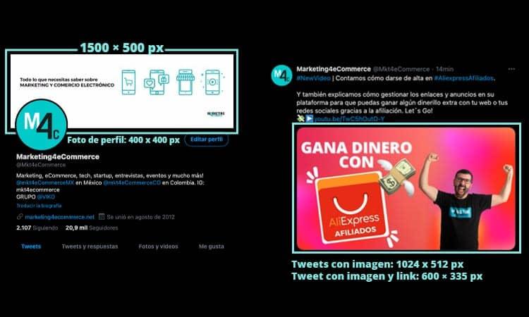 tamaño imágenes Twitter