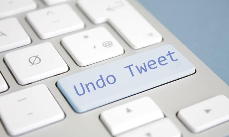 Twitter esta probando una nueva función para cancelar tweets