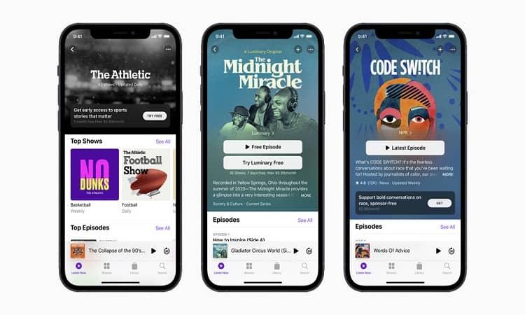 Apple se lanza a los modelos de suscripción con su platforma de podcasts
