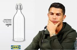 "Ikea aprovecha la polémica de Cristiano con Coca Cola y le dedica una botella ""solo para agua"""