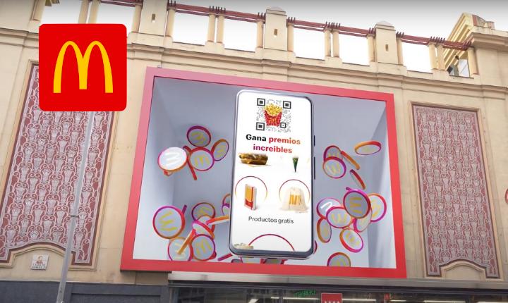 QR y 3D McDonald's