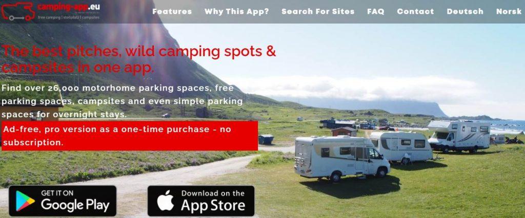 Camping- app.eu app para autocaravanistas y campers